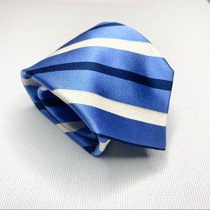 Robert Talbott Silk Tie Blue White Stripes